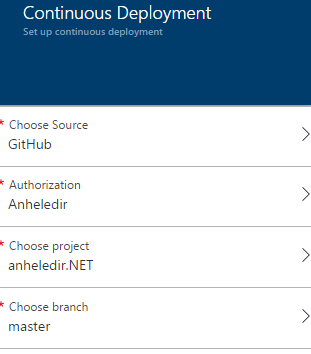Set up continuous deployment for your Microsoft Azure Web App